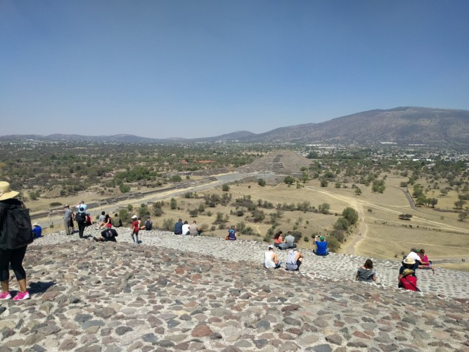 View from the top looking towards the Pyramid of the Moon